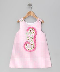 Pink Seersucker Seahorse A-Line Dress - Toddler & Girls