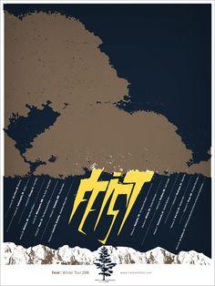 Feist - gig poster - Andrio Abero