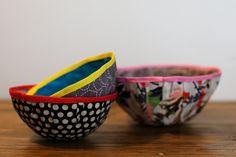 créer un bol en tissu diy
