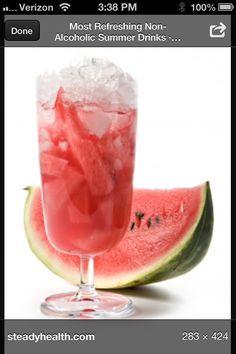 Watermelon drinks instead of Ice put watermelon pieces