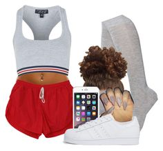 """""""chilling"""" by bestdressed101 ❤ liked on Polyvore featuring Topshop, Nordstrom and adidas Originals"""