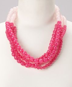 Take a look at this Hot Pink & Pink Clustered Strands Necklace by Baubles on #zulily today!