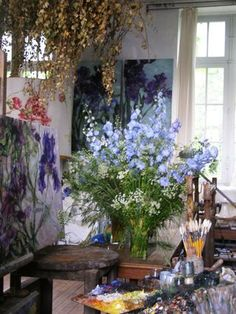 So Sylvie: Old School ~ New Life: Claire Basler's Atelier & Home in France