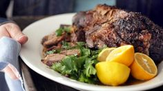 Slow-cooked Greek lamb