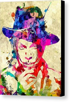 Prince Musician Grunge Canvas Print featuring the mixed media Prince Musician Grunge by Daniel Janda