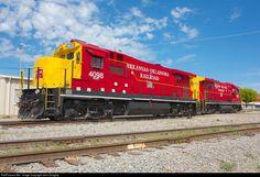 RailPictures.Net Photo: AOK 4098, AOK 4093 Arkansas & Oklahoma Railroad GE B23-7R at McAlester, Oklahoma by John Doughty