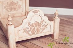 Victorian Laser Engraved Bed - Gorgeous! From Custom Photo Props