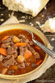 Slow Cooker Hungarian Goulash by a farmgirl's dabbles