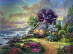 """A New Day Dawning' by Thomas Kinkade"