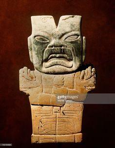Jade figurine of a jaguar spirit, Mexico. Olmec.