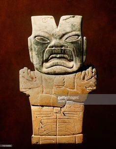 Jade figurine of a jaguar spirit, Mexico. Olmec.