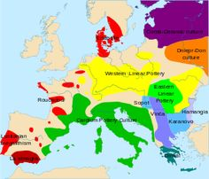 Map of Europe-Mesolithic Neolithic cultures, ca.: Linear Pottery Culture Culture Culture ertebølle culture Bükk Ceramic cardial Dnieper-Don Vinca Culture Culture Culture almeriense Dímini ceramics perforated European History, World History, Ancient History, Ancient Aliens, American History, African Origins, Cradle Of Civilization, Hunter Gatherer, Socialism