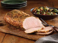 Recipe: Pork Roast with Bacon, Brussels Sprouts and Pomegranate