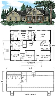 """The """"Gallaway."""" 2,308 sq. ft. of sheer beauty. www.twitter.com/designer_homes // what a great floor plan."""