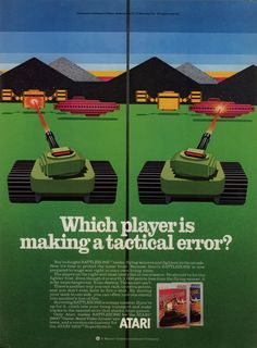 Battlezone magazine ad (Atari 2600 and 5200) 1983.