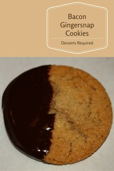 M-M-M-M-M is the best way to describe Bacon Gingersnap Cookies. They're a totally different and delicious cookie recipe that you don't want to miss out on.