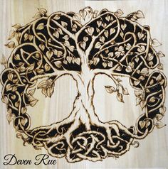 Celtic Tree of Life design created in unique Celtic knotwork symbolizing the circle of life. Birth, growth, life, death, rebirth. It is our connection with nature, the universe and others around us...