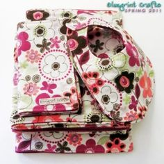bib, burp cloth, and blanket tutorial