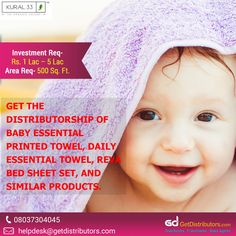 Get the #distributorship of Baby Essential Printed Towel, Daily Essential Towel, Reva Bed Sheet Set, and similar products, under the 𝗯𝗿𝗮𝗻𝗱 𝗻𝗮𝗺𝗲 𝗞𝘂𝗿𝗮𝗹𝟯𝟯.  Share your contact number to grab this #BusinessOpportunity. Textile Fabrics, Bed Sheet Sets, Baby Essentials, Brand Names, Towel, Number, Printed, Products, Layette