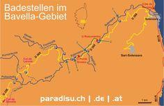 Korsika Karte Bavella Solenzara