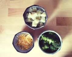 HOMEMADE BABY FOOD - BROCCOLI POTATOES WITH CHEESE