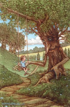 The Gent Boy and Tree Ent 8.5x11 Print by brownieman on Etsy, $11.50
