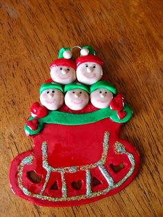 Personalized family ornament on Etsy, $13.95
