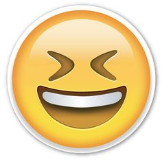 Smiling Face with Open Mouth and Tightly Closed Eyes Cute Girl Wallpaper, Emoji Wallpaper, Large Emoji, I Like Being Alone, Tumblr Png, Emoji Stickers, Laptop Stickers, Emoji Pictures, Lolo