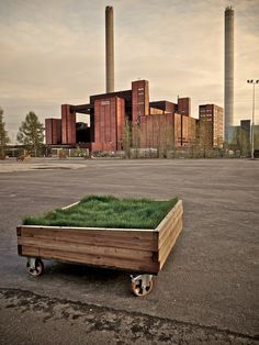 Urban intervention ideas did this last summer with used old crate. only prob make sure you reienforce the wheels one of mine fell off then not able to move it around.
