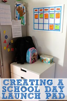 Help your children be more organised with school and afterschool activities with this simple launch pad idea.