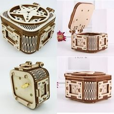 Perfect gift for kids. Assembly time:about 30minsRecommend age: 14+ #gift #present #musicbox #cute Wooden Model Kits, Castle In The Sky, Wooden Puzzles, Gifts For Kids, Age, Stars, Music, Presents For Kids, Musica