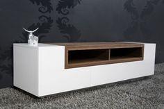 Piece of TV furniture. Love the colour combination! New Living Room, Living Room Modern, Mod Furniture, Furniture Design, Tv Stands, Storage Shelves, Shelving, Tv Shelf, Tv Moderna