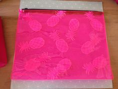 Samudra Pink Pineapple pouch - new - $10