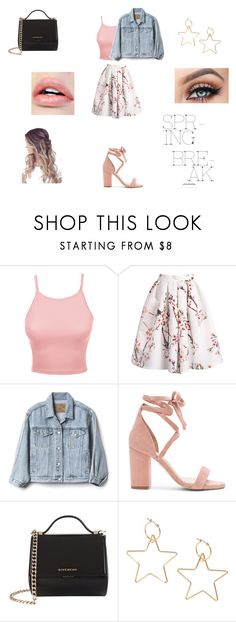 """""""Girly spring break♥"""" by alanavalentina on Polyvore featuring moda, LE3NO, Gap, Raye y Givenchy"""