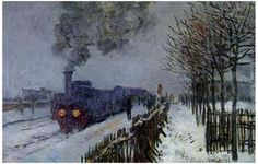 A wonderful poster of the Claude Monet painting entitled Train in the Snow! A classic piece of Impressionist art. Ships fast. 11x17 inches. Check out the rest of our fabulous selection of Claude Monet