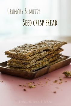 Make snacking healthy and try this crunchy and nutty crisp bread that is packed with energy. Visit kiddieliciouskitchen.com for the recipe. #healthysnacking #energy #glutenfree