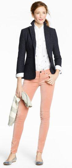 Pink velvet skinny jeans   http://popsu.gr/njHG