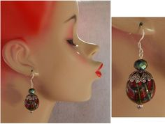 Christmas Plaid / Tartan Drop/Dangle Earrings Handmade Jewelry Hook Holiday #Handmade #DropDangle http://www.ebay.com/itm/Christmas-Plaid-Tartan-Drop-Dangle-Earrings-Handmade-Jewelry-Hook-Holiday-/161522544211?