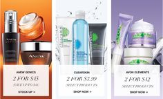 Avon Skin Care steals and deals