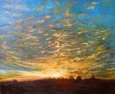 Zachód, obraz olejny na płótnie Anna Michałowska