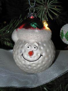 Golf ball Christmas decoration