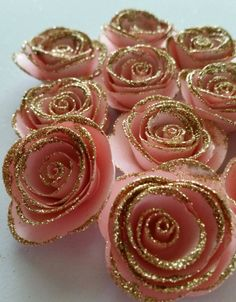 Pink and Gold Roses Pink and Gold First Birthday Paper Rose Pink and Gold Baby Shower Pink and Gold Party Paper Rose Pink and Gold Pink And Gold Birthday Party, Gold First Birthday, Golden Birthday, First Birthday Parties, Birthday Party Decorations, Baby Shower Decorations, First Birthdays, Birthday Ideas, Pink Gold Party