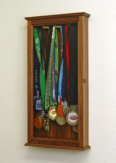 Marathon Sports Medal Display Case Wall Cabinet
