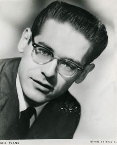 Bill Evans Press Photo for Riverside Records Sax Man, Bill Evans, Thelonious Monk, Louis Armstrong, Jazz Musicians, Jazz Blues, Mens Glasses, Press Photo, Albums
