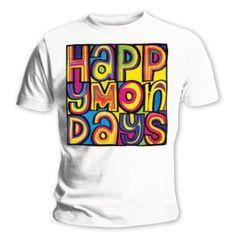 Happy Mondays Men's Tee: Logo Wholesale Ref:HMTEE01MW