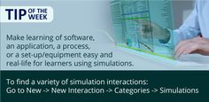 Tip of the Week: Give learners a practical feel of the subject matter using simulations