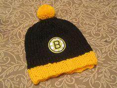 BOSTON BRUINS Hand Knit Baby Hat  Boston Baby Hat  by UpNorthKnits, $25.00