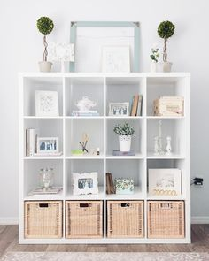 Superb I've been looking for functional ways to decorate my feminine home office since I started working from home. I picked up the IKEA Kallax Shelf Unit to provide more decor storage and orga . Etagere Kallax Ikea, Ikea Kallax Shelf Unit, Ikea Kallax Regal, Ikea Shelves, Diy Shelving, Ikea Expedit, Cube Shelves, Shelving Units, Cheap Home Decor