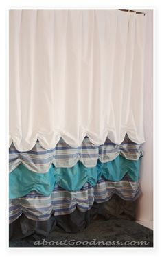 25 DIY Shower Curtain Tutorials — Domestic Imperfection