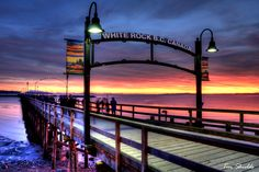 White Rock Pier at sunset ~ White Rock, B.C., Canada ~ by Tim Shields